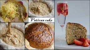 梵蒂冈面包,蛋糕 库存照片