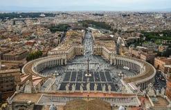 梵蒂冈鸟瞰图  免版税库存照片