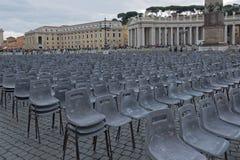 梵蒂冈,圣皮特圣徒・彼得` s正方形 库存图片
