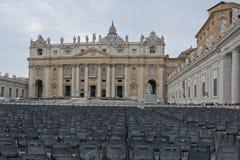 梵蒂冈,圣皮特圣徒・彼得` s正方形 库存照片