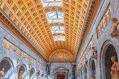 梵蒂冈,梵蒂冈09日2017年:在梵蒂冈博物馆里面, 库存照片