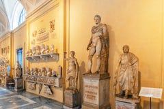 梵蒂冈,梵蒂冈09日2017年:在梵蒂冈博物馆里面, 图库摄影