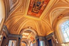 梵蒂冈,梵蒂冈09日2017年:在梵蒂冈博物馆里面, 库存图片
