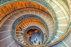 梵蒂冈,梵蒂冈09日2017年:在梵蒂冈博物馆里面 免版税库存图片