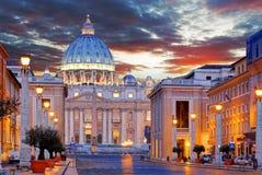 梵蒂冈,罗马,圣彼得大教堂 免版税图库摄影