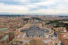 梵蒂冈-令人惊讶的罗马,意大利大广场  免版税图库摄影