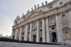 梵蒂冈-圣皮特的大教堂 免版税库存图片