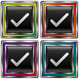 检查四个正方形 免版税库存照片