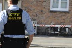 检查在阿迈厄岛的警察KINIF战斗 免版税库存图片