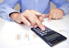 检查帐户,会计,商人 图库摄影