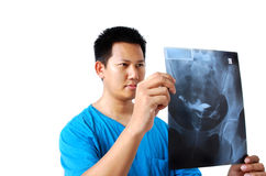 检查影片X-射线 免版税库存照片
