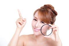 检查您的健康皮肤 图库摄影