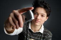 检查我的移动电话  免版税库存照片