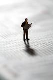 检查投资者市场更新 免版税库存照片
