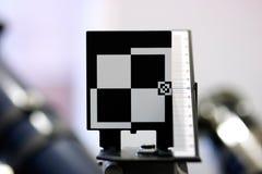 检查摄象机镜头的测试目标 库存照片