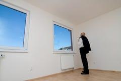 检查新的房子 免版税库存图片