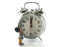 检查时间的妖精 免版税库存照片