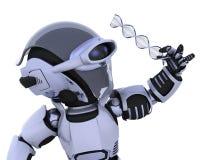 检查机器人子线的脱氧核糖核酸 向量例证