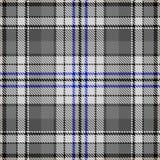 检查样式灰色蓝色织品样式布料 向量例证