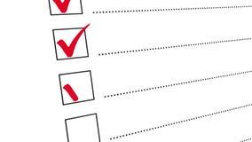 检查清单检查a的所有箱子做名单动画 库存例证