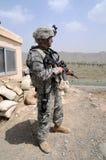 检查观察点的2阿富汗人边界 免版税库存照片