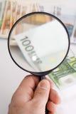 检查货币 图库摄影