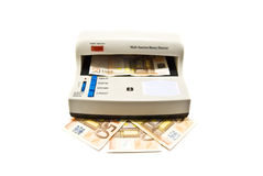 检测货币 库存照片
