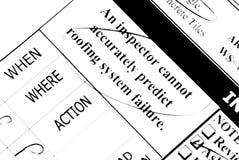 检验屋顶 免版税库存图片