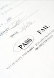 检验页 免版税图库摄影