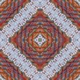 棉花五颜六色的织物背景,剪贴薄的背景,顶视图 镜象反射拼贴画 无缝的样式, kaleidos 库存图片