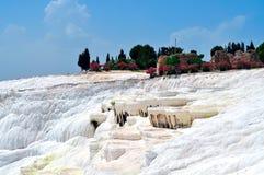 棉花堡棉花城堡,代尼兹利,土耳其 免版税库存图片