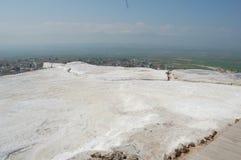 棉花堡的古老春天,土耳其 免版税库存图片
