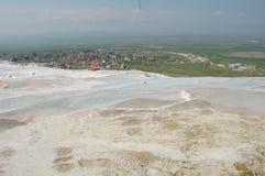棉花堡的古老春天,土耳其 库存照片