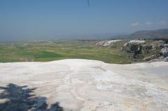 棉花堡的古老春天,土耳其 免版税库存照片