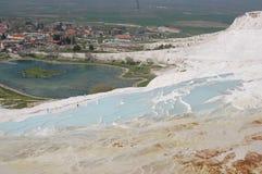 棉花堡的古老春天,土耳其 免版税图库摄影