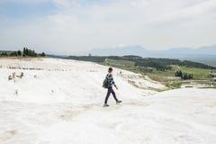 棉花堡,土耳其石灰华  图库摄影