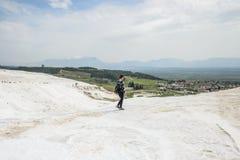 棉花堡,土耳其石灰华  免版税库存照片