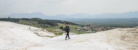 棉花堡,土耳其石灰华  库存图片
