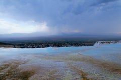 棉花堡,土耳其 免版税库存照片