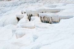棉花堡,自然站点在代尼兹利省在西南土耳其 库存照片
