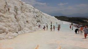 棉花堡-棉花城堡,代尼兹利省在西南土耳其 股票视频