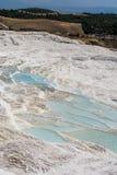 棉花堡水池,土耳其 免版税库存照片