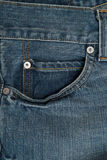 棉花牛仔布详细资料织品牛仔裤纹理 库存照片