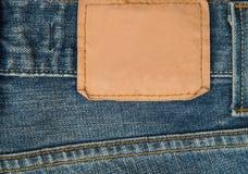 棉花牛仔布详细资料织品牛仔裤纹理 免版税库存图片