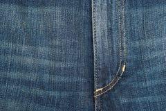 棉花牛仔布详细资料织品牛仔裤纹理 免版税图库摄影