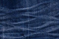 棉花牛仔布详细资料织品牛仔裤纹理 免版税库存照片