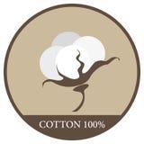 棉花的标签 免版税图库摄影