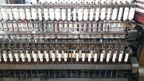 棉花螺纹生产 免版税图库摄影