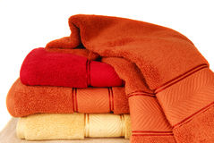 棉花软的毛巾 免版税库存图片