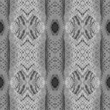 棉花钩针编织剪贴薄的鞋带背景 与镜象反射的拼贴画 无缝的样式万花筒蒙太奇 免版税库存图片